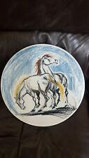 Mid-Century Italian Ceramic Art Plate from Quadrifoglio, 1950's