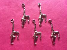 Tibetan Silver Gymnastics/Gymnast Charms Handstand x 5 per pack