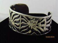 Taxco Mexico Rare Eagle 3  Sterling Silver 34gs Beto CAO Warrior  Cuff Bracelet