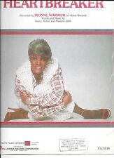 """""""Heartbreaker"""" Dionne Warwick song sheet music"""