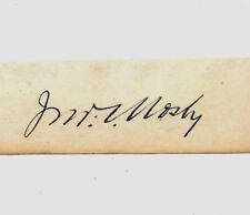 John Singleton Mosby Autograph Reprint On Genuine Original Period 1860s Paper *