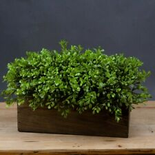 Artificial Topairy plant in wooden box display Greenery gift