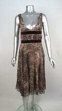 NWOT 100% Auth VALENTINO Multi Color Abstract Pattern Pleated Dress IT 40 US 4-6