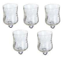 5 x Glasaufsatz Crackle für Kerzenständer Glas Windlicht Aufsatz Kerzenhalter