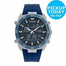Lorus Men's Blue Strap Sports Watch - Blue. From Argos