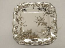 New 222 Fifth Adelaide Gold Dinner Plates set of 4 French Country Toile Bird