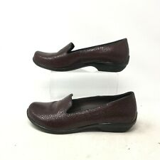 Dansko Olivia Brown Cobblestone Loafer Shoes Slip On Leather Brown Womens 38