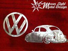 VW Bettle Bug with VW Logo Metal Wall Decor