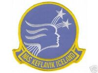 """US NAVY USN  NAVAL AIR STATION NAS KEFLAVIK 4"""" EMBROIDERED  PATCH"""