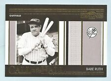 BABE RUTH 2004 DONRUSS TIMELINES CALL TO THE HALL JERSEY # 3/250 YANKEES