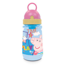 Peppa Pig Blue Pink Childrens Plastic Pixie Drinking Sports Water Bottle