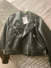 Zara Faux Leather Biker Jacket XL NEW WITH TAGS