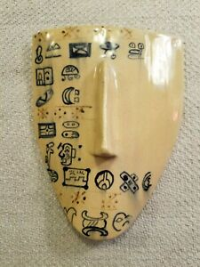 Handmade Ceramic Clay Art Mask Sculpture Pottery - Signed & Dated