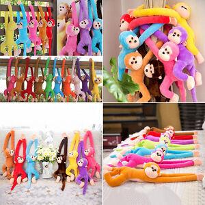 Colorful Long Arm Monkey Hanging Soft Plush Doll Stuffed Animal Toy Kids Baby