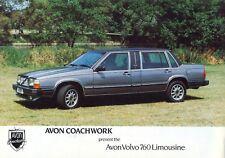 Volvo 760 Limousine by Avon UK market sales brochure / leaflet