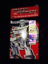 NEW Transformers 16 lenticular Valentines Cards G1 Optimus Prime Bumblebee Etc