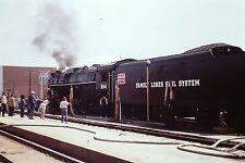 35mm Orig Slide SCX 4-8-4 #614 Locomotive in Florence SC Family Lines Rail
