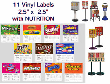 11 Product Vending Candy Machine Nutrition Stickers Labels Quick & Free Shipping