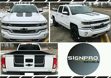Chevy Silverado Vinyl Chase Rally Hood Racing Stripe Decal Kit CARBON FIBER 2016
