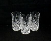 Shannon by Godinger STEPHANIE Crystal Highball Glasses Tall Tumblers (3)