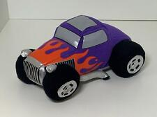 Energy Promotions 8 Inch Plush Toy 30's Ford Hot Rod Purple with Flames Ages 3+