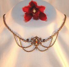 altes Jugendstil Collier Koralle Collierkette Double Halskette / bg 144