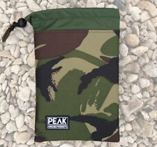 Peak angling bits bag made from Cordura camo fabric small 8'x 5.75' pouch cover