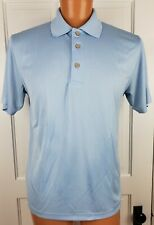 Cubavera Polo Shirt Ribbed Baby Blue Polyester Mens Size Medium