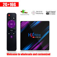 H96 MAX 2GB 16GB Android 9.0 TV Box 4K HD Smart Internet Media Player steamer UK
