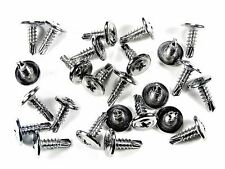 Ford Chrome Wheel Well Trim Screws- Self Tap Phillips Washer Head- Qty.25- #230