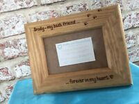 Personalised Wooden Photo Frame Dog Always In My Heart Memorial