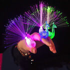 10x Finger Light Up Ring Laser LED Party Rave Favors Glow Beams Peacock Toys