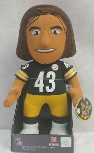 "NWT Bleacher Creature NFL Football #43 Troy Polamalu Plush 14"""