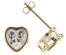 Cubic Zirconia Butterfly Heart Unbranded Costume Earrings