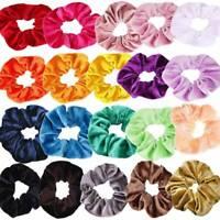 Pack of 12 Hair Scrunchies Velvet Scrunchy Bobbles Elastic Hair Bands Holder