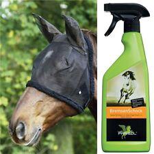 protection insectes pour les chevaux - Ensemble avec hotte et Spray - Poney