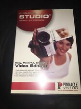 Pinnacle Studio Version 9 UPGRADE Software 2 Discs Video Editing Sys Complete