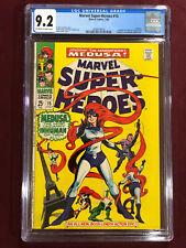 MARVEL SUPER-HEROES 15 CGC 9.2 COLON COLLETTA  1968 MEDUSA INHUMANS