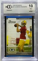 Aaron Rodgers 2005 Bowman Rookie Card Graded BCCG 10 MINT GREEN BAY PACKERS