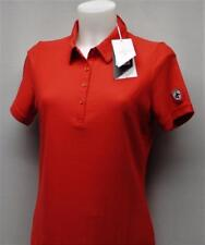New Ladies MED Cross Sportswear Red golf shirt Regular Fit white logo