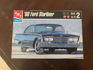 1960 Ford Starliner 2 Door Hardtop AMT ERTL 1:25 Model Kit New Sealed