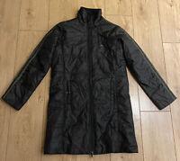 Adidas Women's Waterproof Padded Jacket Size 10 Small All Black Long