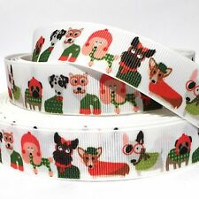 "GROSGRAIN RIBBON 7/8"" DOGS PUPPIES PETS DOG D5  (COMBINE SHIPPING) USA SELLER"