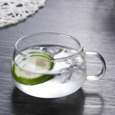 Borosilicate Glass Cup Handle Thicken Heat Resistant Juice Tea Mugs Home Office