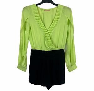 Cooper St Womens Grren/Black Long Sleeve Playsuit Size 8