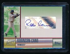 ROBINSON CANO 2006 TOPPS AUTOGRAPH GREEN AUTO SEATTLE MARINERS YANKEES