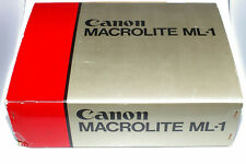 Canon Macrolite ml-1 ml1 nella confezione originale Anello Fulmine * RARE *