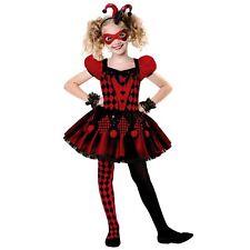 Amscan Girls Harlequin Cutie 8-10 Year Costume Jester Halloween Fancy Dress Kids