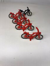 Lot Of 5 Lego bicycle red And Black Bikes City Part 4719 10182 75810 4558