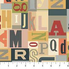 LetterPress, random letters fonts , fat quarters,100% cotton,  21890-11